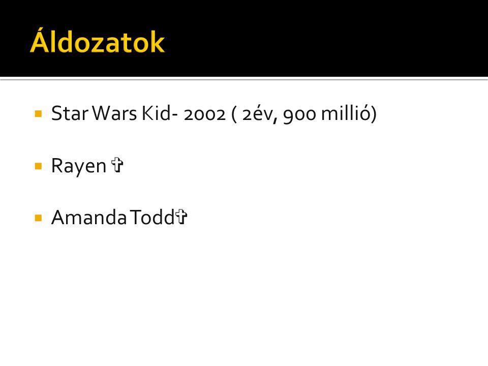  Star Wars Kid- 2002 ( 2év, 900 millió)  Rayen ✞  Amanda Todd ✞