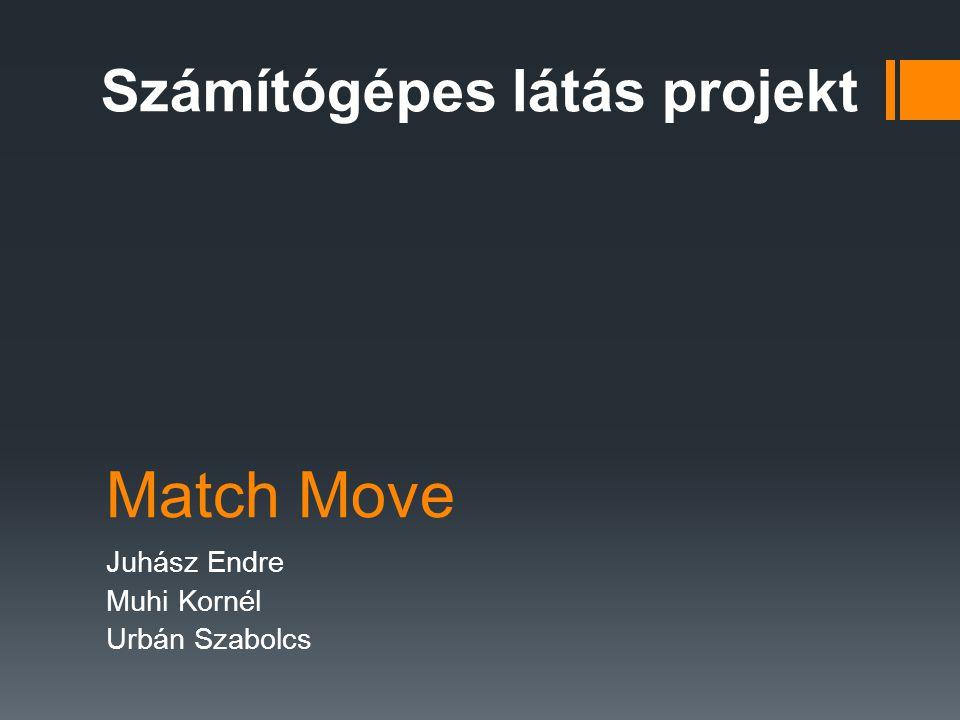 Match Move Juhász Endre Muhi Kornél Urbán Szabolcs Számítógépes látás projekt