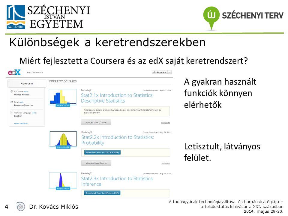 4Dr. Kovács Miklós A tudásgyárak technológiaváltása és humánstratégiája – a felsőoktatás kihívásai a XXI. században 2014. május 29-30. Különbségek a k