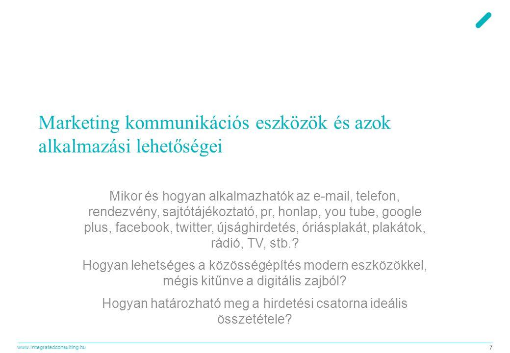 www.integratedconsulting.hu 28 Közösségi média várható szerepe a marketing stratégiában