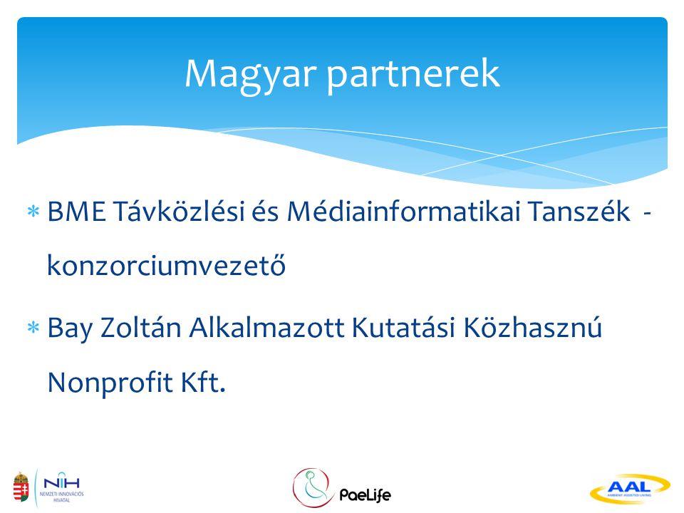  Európai Uniós, AAL projekt  Projekt kezdete: 2012.