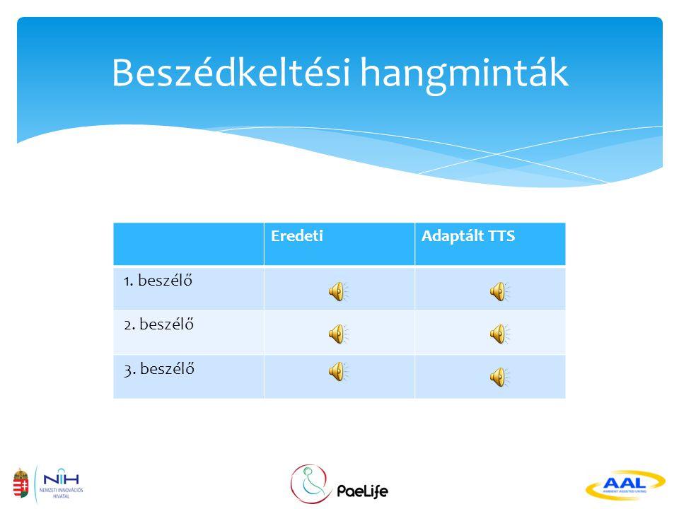  A két legkorszerűbb gép beszédkeltési technológia  Korpusz-alapú (pl.
