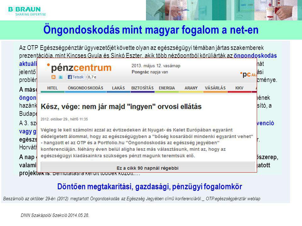 Öngondoskodás mint magyar fogalom a net-en Az OTP Egészségpénztár ügyvezetőjét követte olyan az egészségügyi témában jártas szakemberek prezentációja,