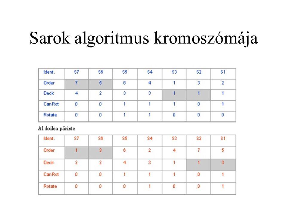 Sarok algoritmus kromoszómája