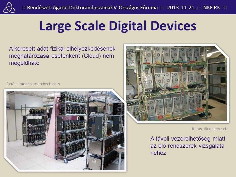::: Rendészeti Ágazat Doktoranduszainak V. Országos Fóruma ::: 2013. 11.21. ::: NKE RK ::: Large Scale Digital Devices forrás: tik.ee.ethz.ch forrás: