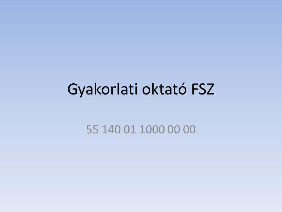 Gyakorlati oktató FSZ 55 140 01 1000 00 00