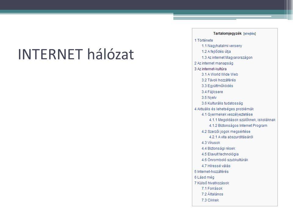 INTERNET hálózat