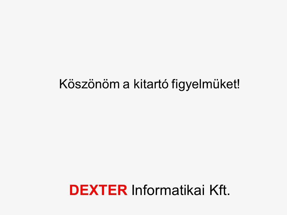DEXTER Informatikai Kft. Köszönöm a kitartó figyelmüket!