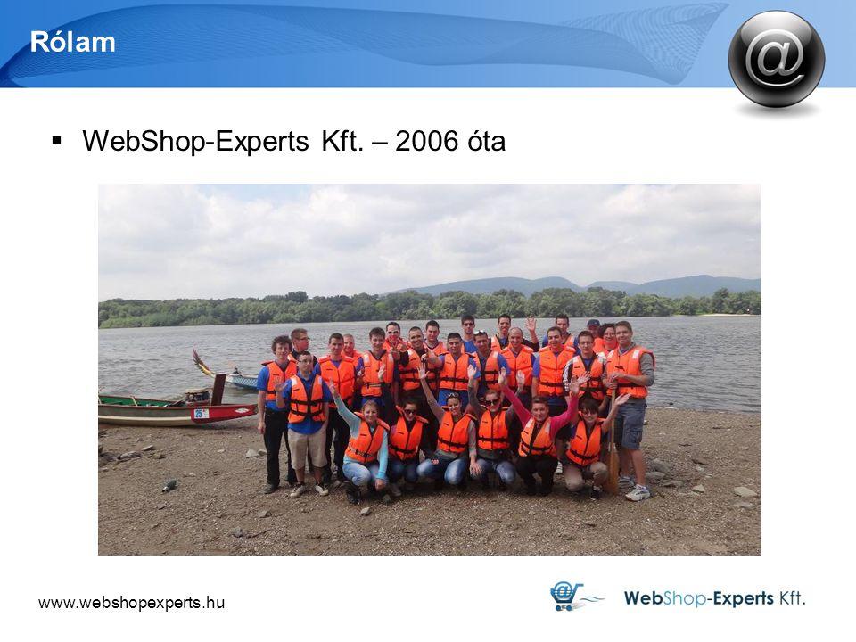 www.webshopexperts.hu Rólam  WebShop-Experts Kft. – 2006 óta
