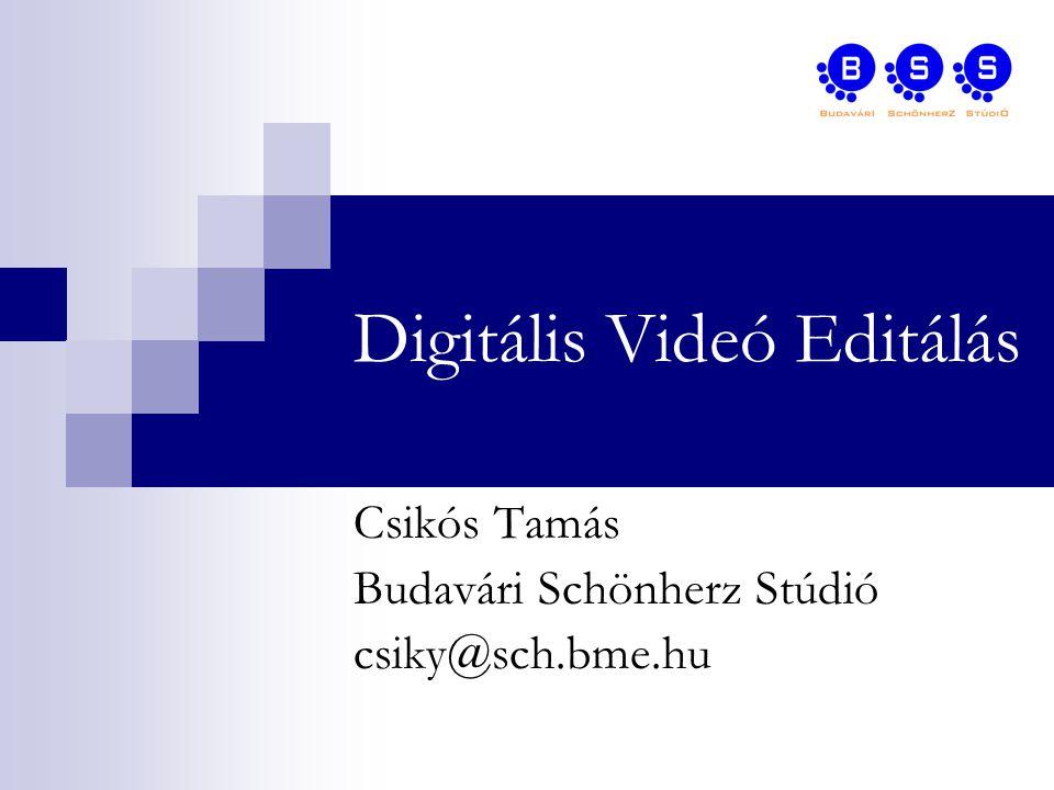 Alkalmazási területek Broadcast alkalmazások  Transzkódolás  Trükkök és grafikák  Nem-lineáris vágás  Virtuális Stúdió Fogyasztói alkalmazások Digitális Video Technológia