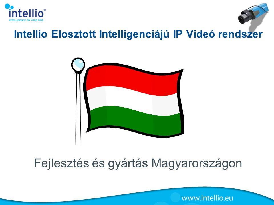Intellio Elosztott Intelligenciájú IP Videó rendszer Fejlesztés és gyártás Magyarországon