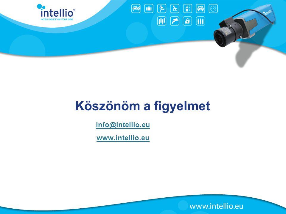 Köszönöm a figyelmet info@intellio.eu www.intellio.eu