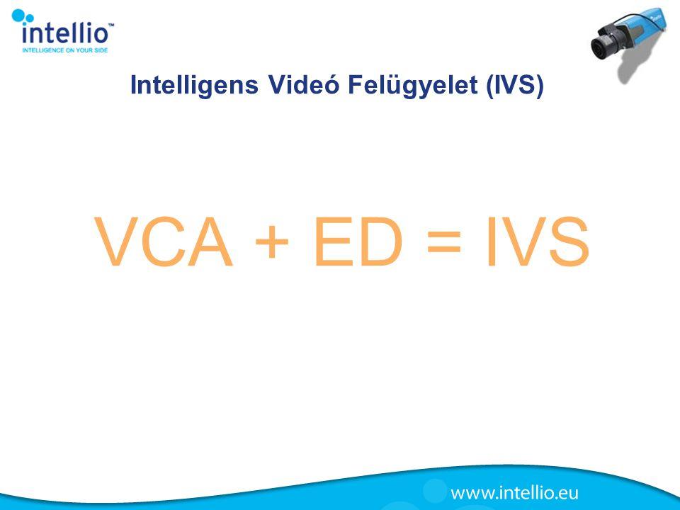 Intelligens Videó Felügyelet (IVS) VCA + ED = IVS