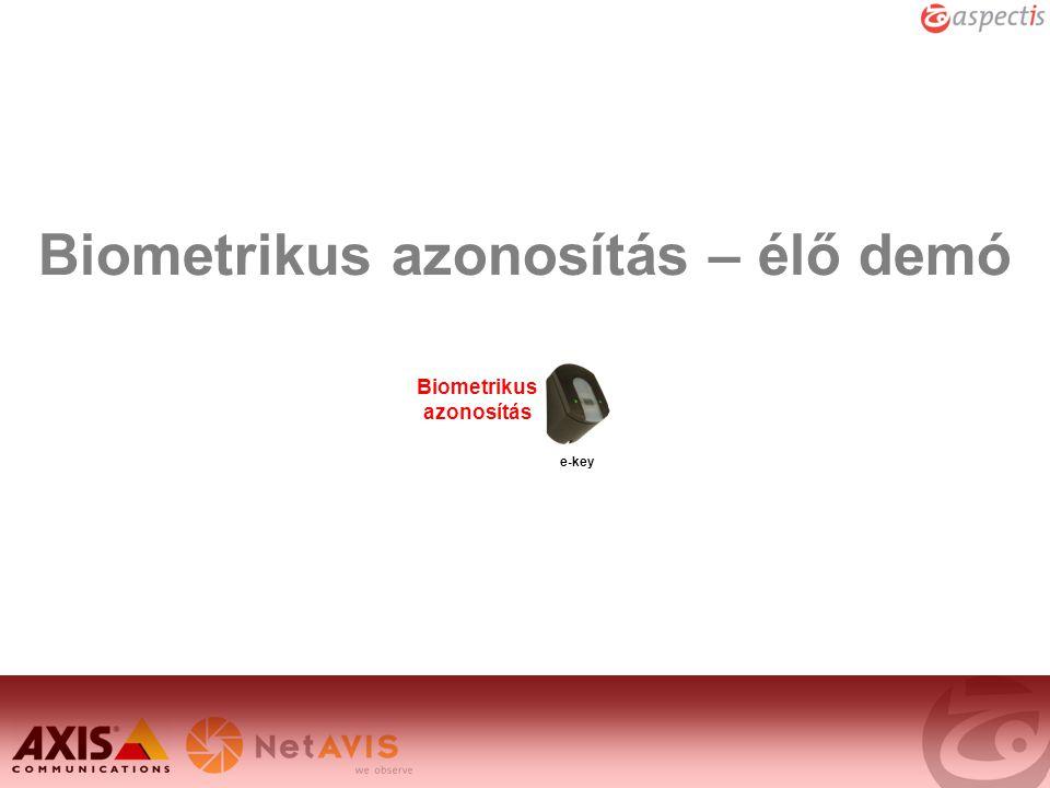 Biometrikus azonosítás – élő demó e-key Biometrikus azonosítás