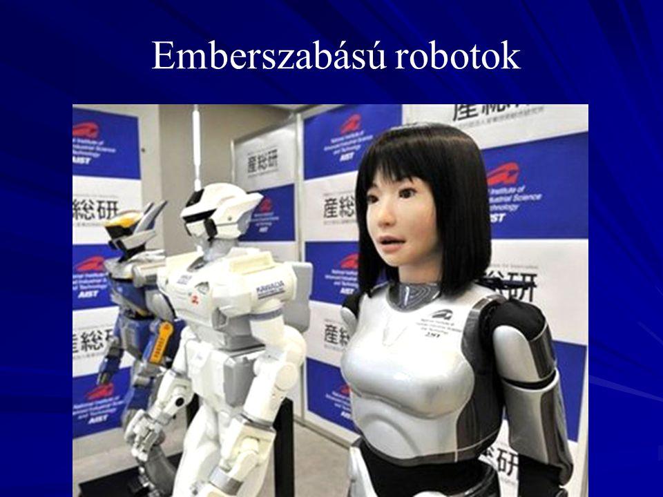 Borzongást kiváltó, üres tekintetű robot.