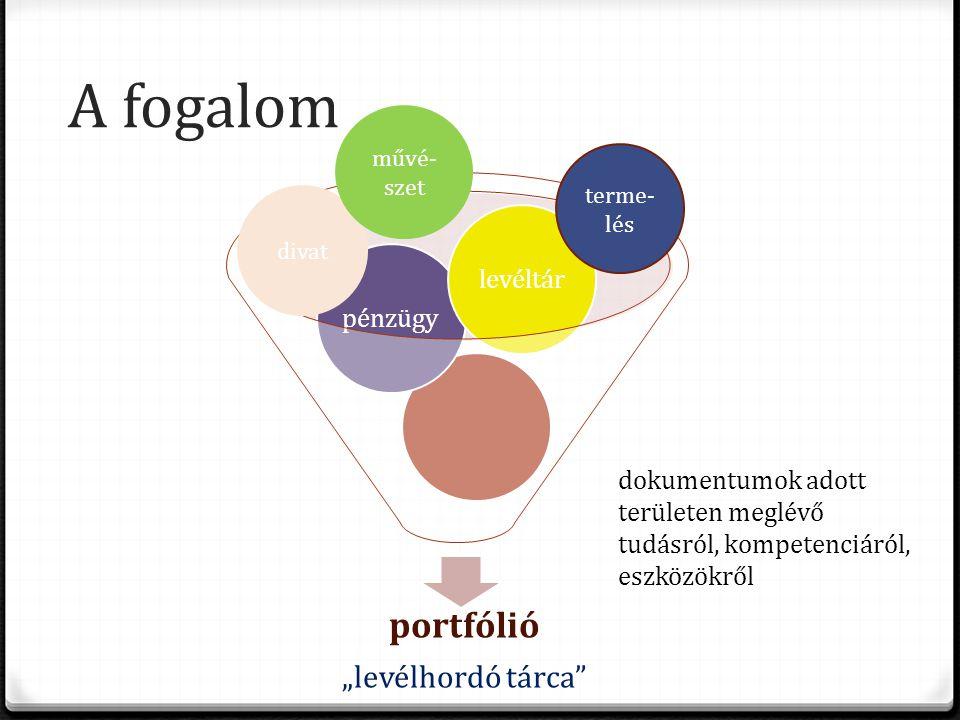 """A fogalom portfólió """"levélhordó tárca pénzügylevéltár divat művé- szet terme- lés dokumentumok adott területen meglévő tudásról, kompetenciáról, eszközökről"""