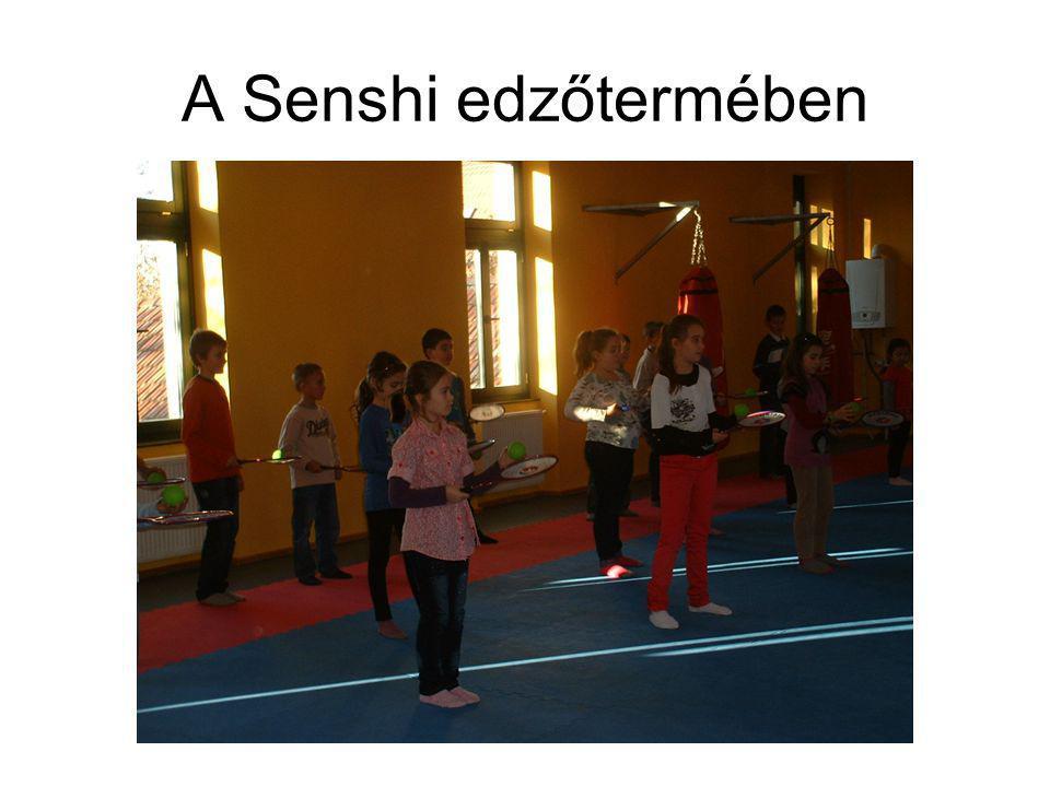 A Senshi edzőtermében