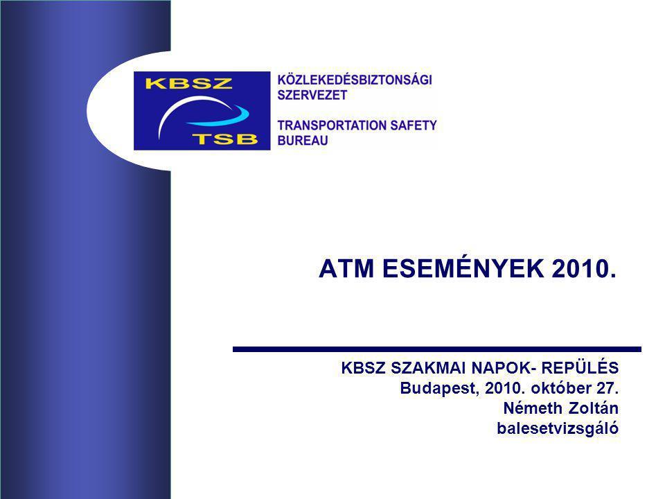 ATM ESEMÉNYEK 2010. KBSZ SZAKMAI NAPOK- REPÜLÉS Budapest, 2010.