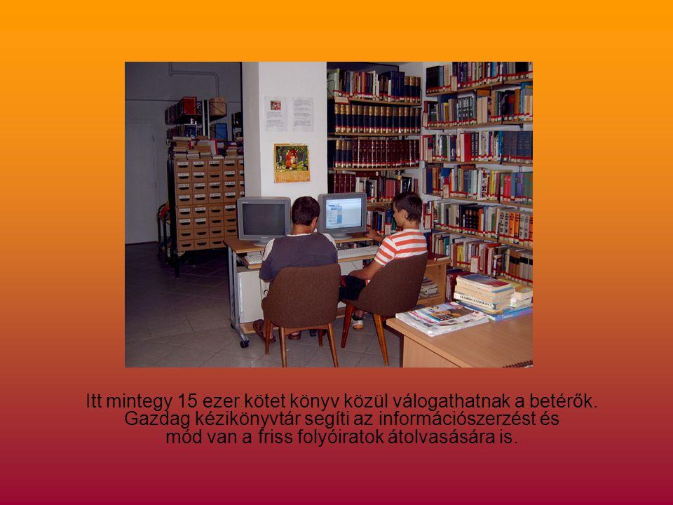 Itt mintegy 15 ezer kötet könyv közül válogathatnak a betérők.