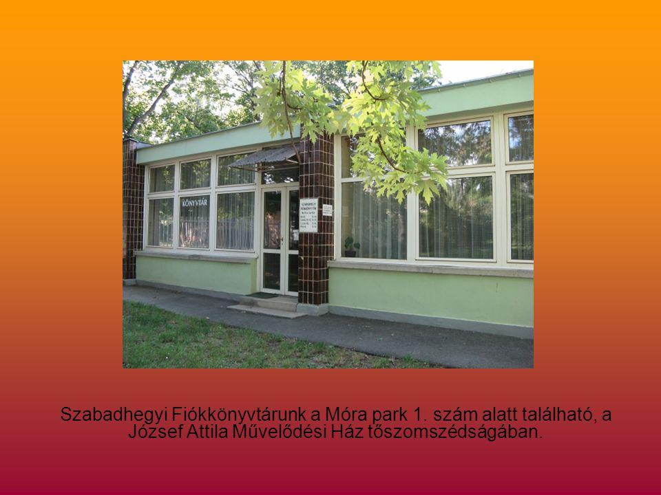 Szabadhegyi Fiókkönyvtárunk a Móra park 1.