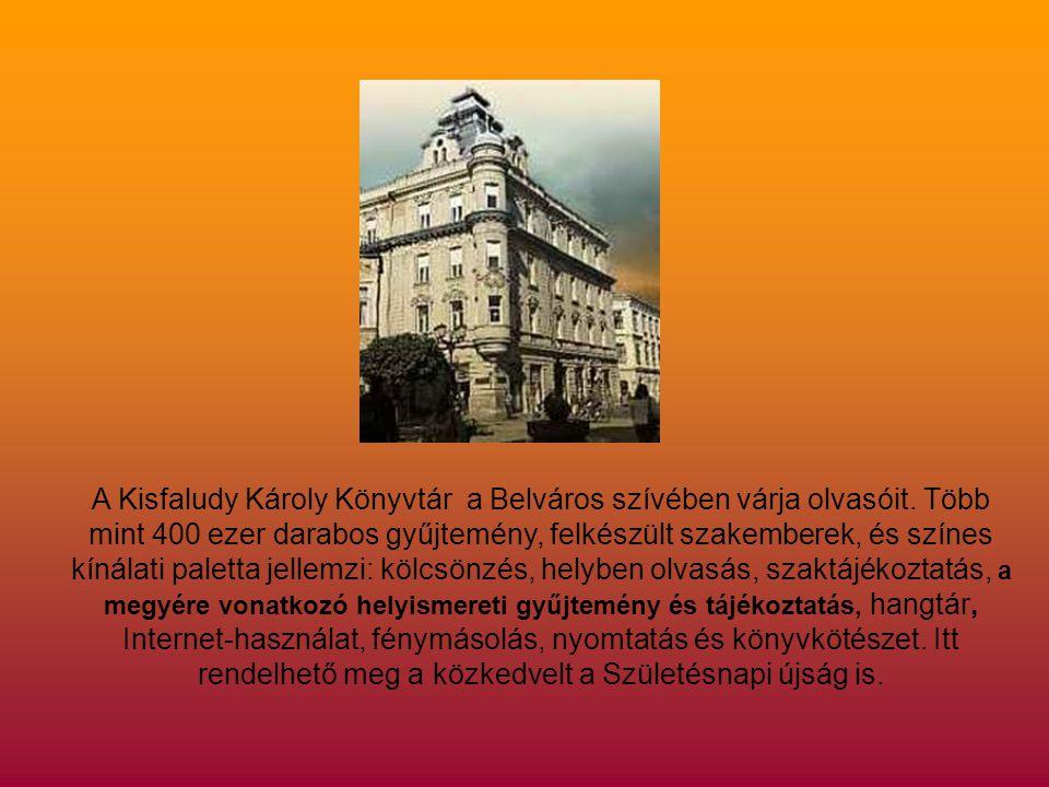 A Kisfaludy Károly Könyvtár a Belváros szívében várja olvasóit.