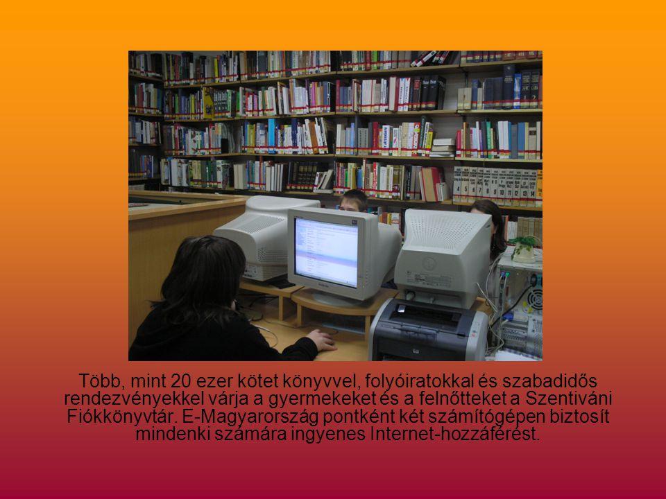 Több, mint 20 ezer kötet könyvvel, folyóiratokkal és szabadidős rendezvényekkel várja a gyermekeket és a felnőtteket a Szentiváni Fiókkönyvtár.