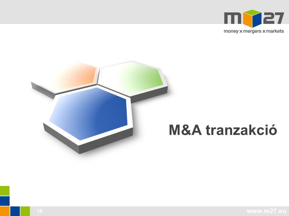 www.m27.eu 18 M&A tranzakció