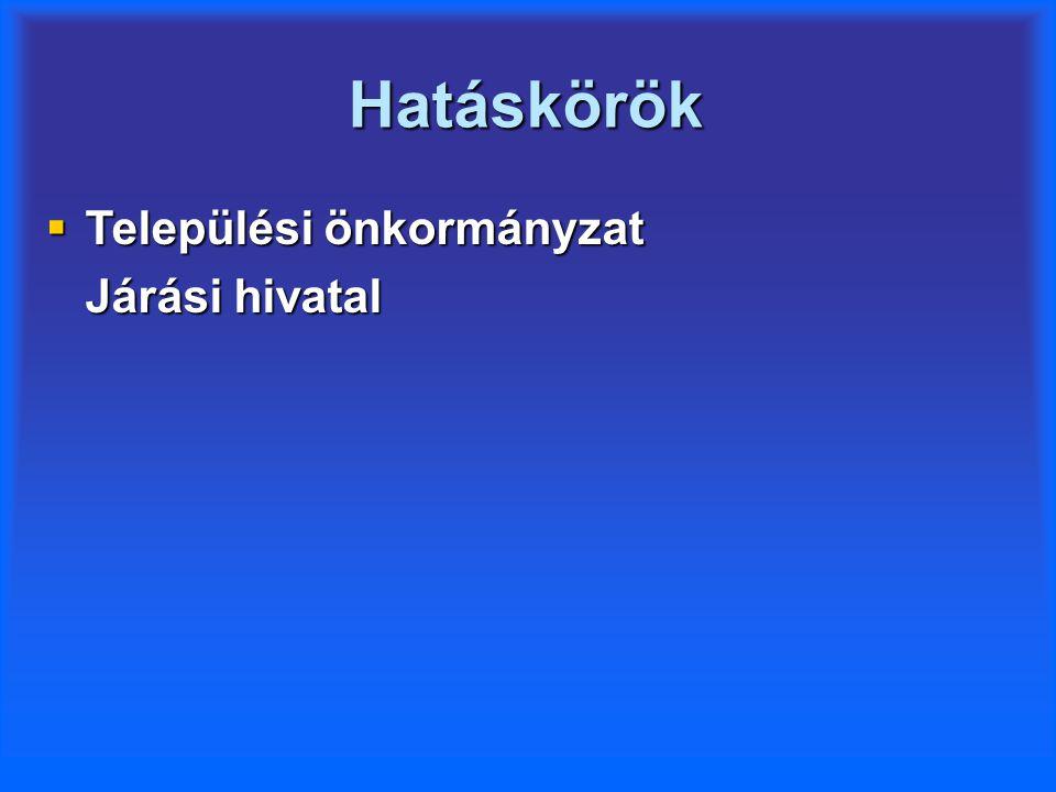Települési önkormányzat hatásköre  Önkormányzati segély  Köztemetés  Lakásfenntartási támogatás  Ápolási díj (méltányossági)  Közgyógyellátás (méltányossági)