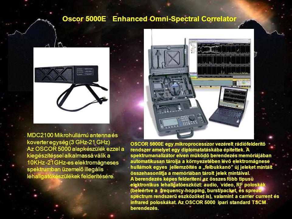 MDC2100 Mikrohullámú antenna és koverter egység (3 GHz-21 GHz) Az OSCOR 5000 alapkészülék ezzel a kiegészítéssel alkalmassá válik a 10KHz -21GHz-es el