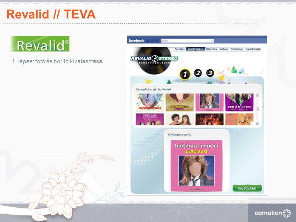 Revalid // TEVA 1. lépés: fotó és borító kiválasztása