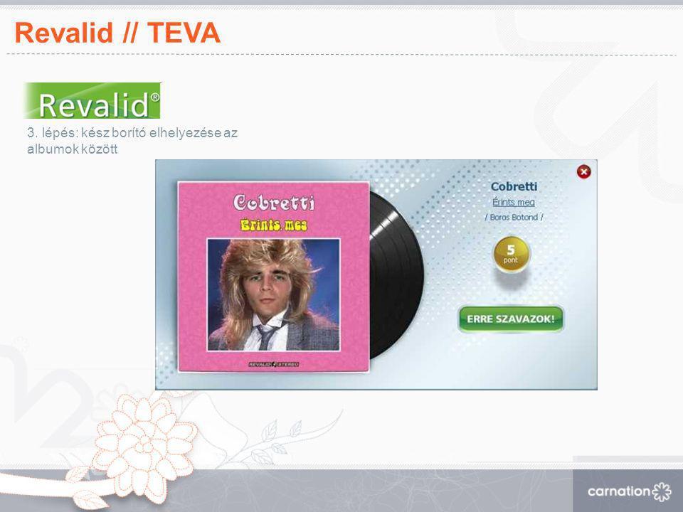 Revalid // TEVA 3. lépés: kész borító elhelyezése az albumok között