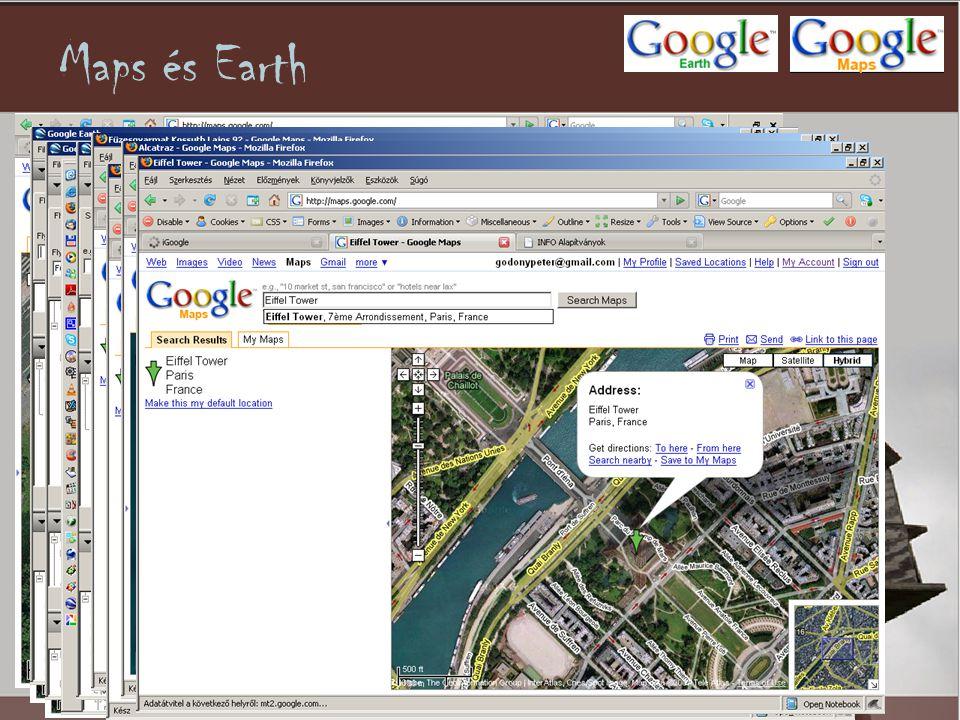 Maps és Earth •Térkép !