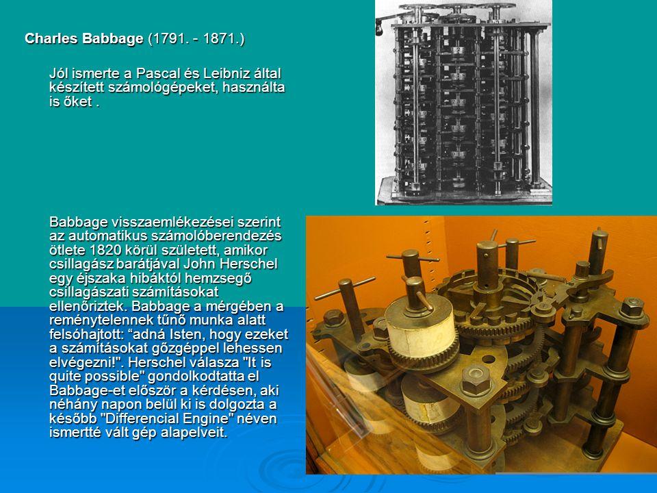 Charles Babbage (1791.