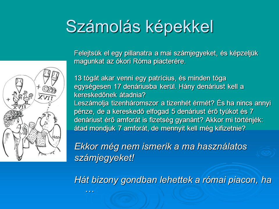 Emberi találékonyság … de nem volt könnyű dolga az embereknek a sumér, az egyiptomi vagy a görög számokkal sem.