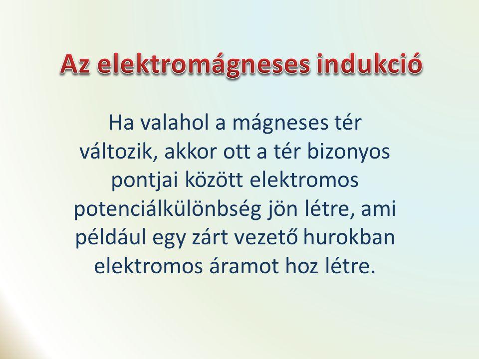 Nyugalmi indukció A mágneses fluxus megváltozásának oka nem a mozgás.