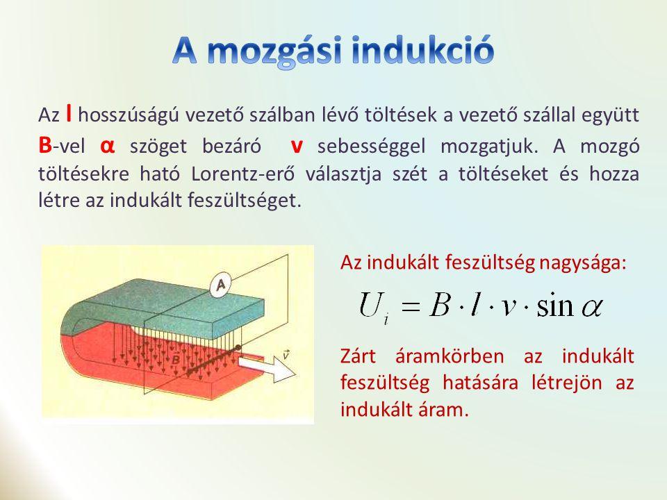 mozgási indukció kölcsönös indukció önindukció Kösd össze az összetartozó képeket, elnevezéseket és összefüggéseket!