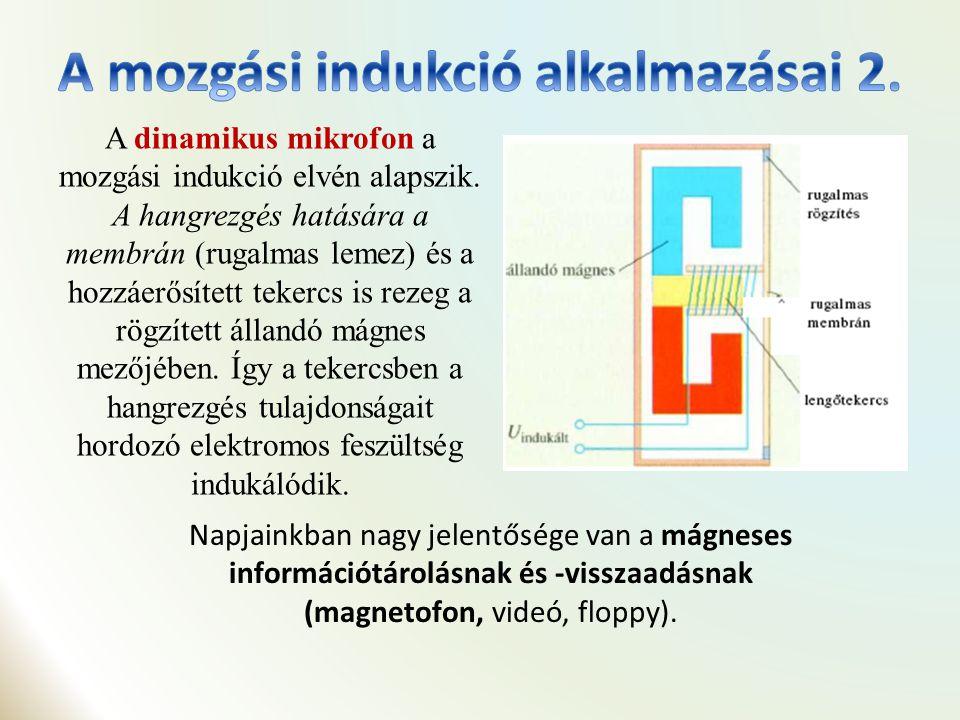 ElőállításaElőállítása: a mozgási indukció elvén történik.