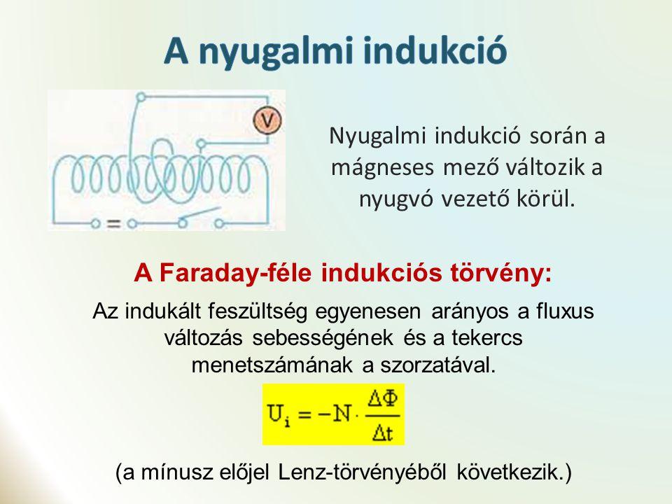 Az indukált áram erőssége szintén szinusz függvénnyel írható le: a feszültség és az áram közötti fázis különbség Az áram és a feszültség sok esetben nem egy időben veszik fel a maximumot, minimumot - nincsenek azonos fázisban.