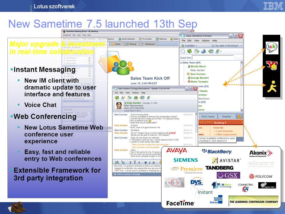 Lotus szoftverek © 2006 IBM Corporation Miért érdemes a Sametime-ban gondolkodni.