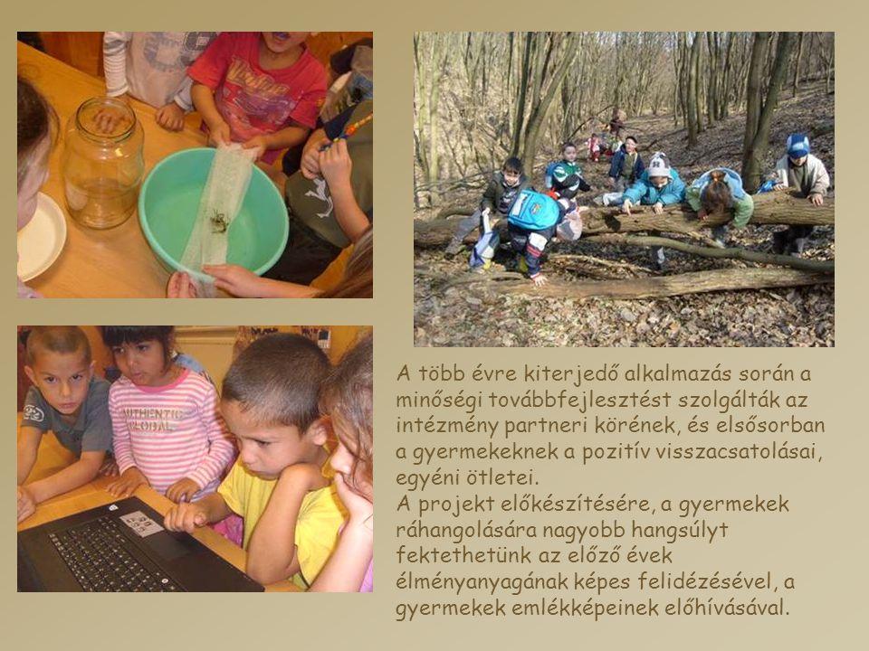 A több évre kiterjedő alkalmazás során a minőségi továbbfejlesztést szolgálták az intézmény partneri körének, és elsősorban a gyermekeknek a pozitív v