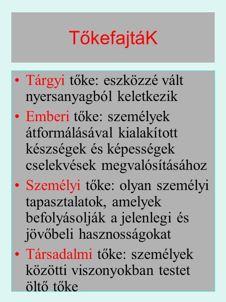 Szellemi tőkeBalogh Gábor, 2006.03.25. 5 TőkefajtáK •Tárgyi tőke: eszközzé vált nyersanyagból keletkezik •Emberi tőke: személyek átformálásával kialak
