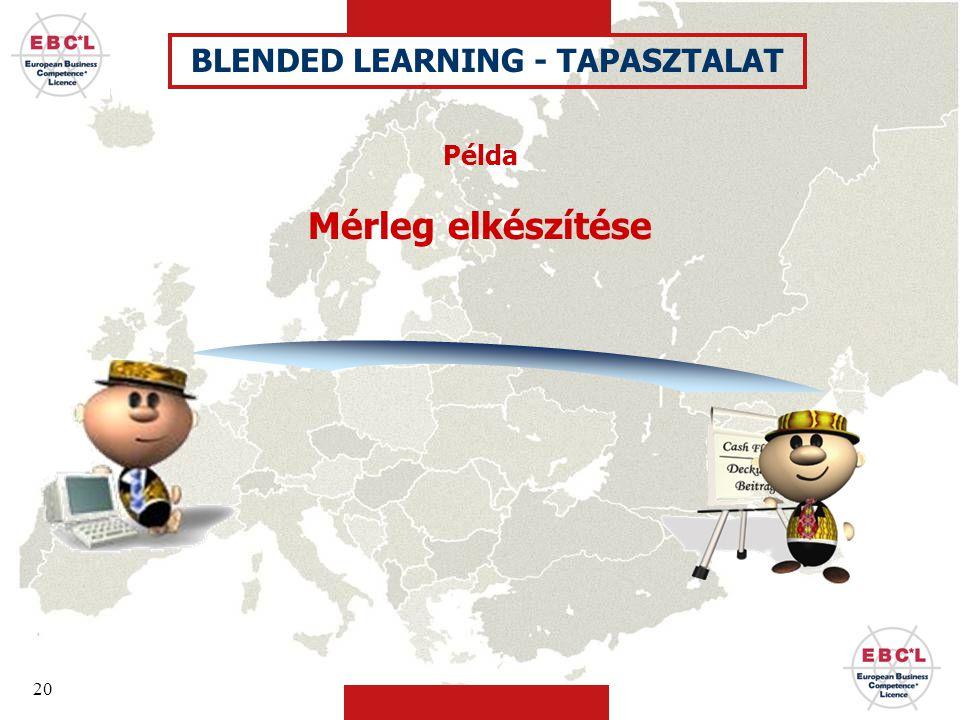 20 Példa Mérleg elkészítése BLENDED LEARNING - TAPASZTALAT