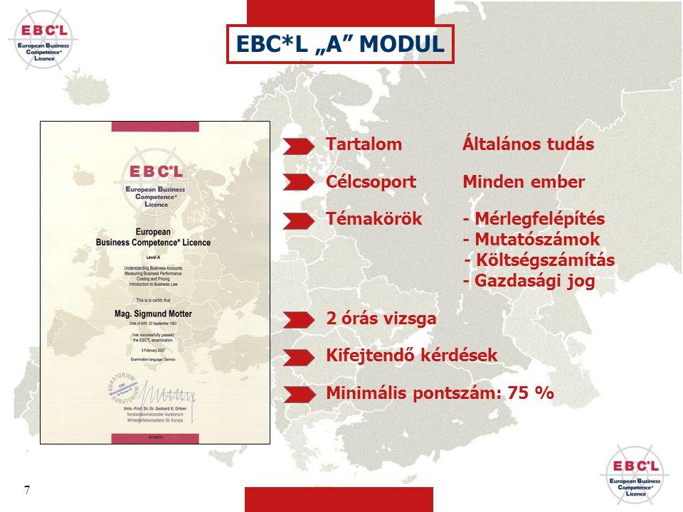 8 Egyszerű út a gazdasági hozzáértéshez és Tökéletes felkészítés az Egységes Európai Gazdasági Oklevél, EBC*L megszerzéséhez