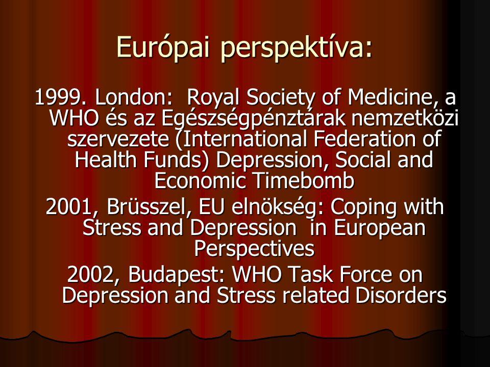Európai perspektíva: 1999. London: Royal Society of Medicine, a WHO és az Egészségpénztárak nemzetközi szervezete (International Federation of Health