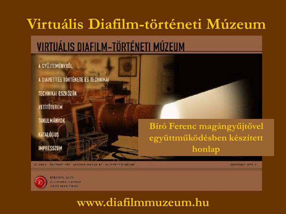 190 már szolgáltatott diafilm és további százak, melyek digitalizálásra várnak…