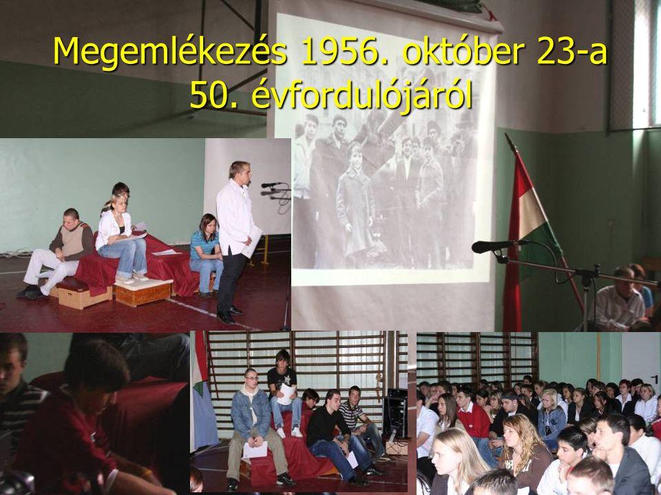 Megemlékezés 1956. október 23-a 50. évfordulójáról