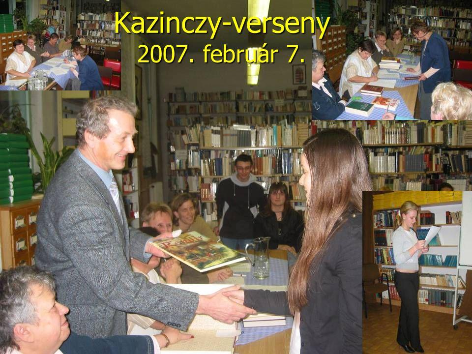 Kazinczy-verseny 2007. február 7.