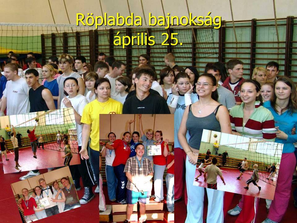 Röplabda bajnokság április 25.