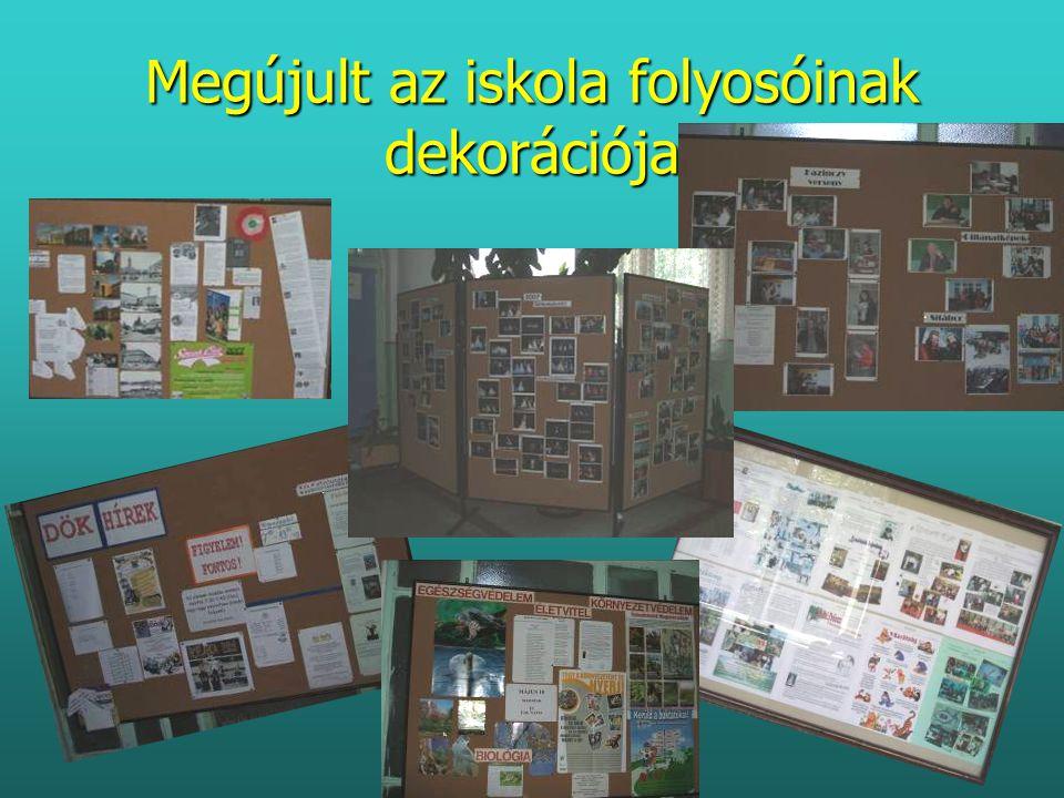 Megújult az iskola folyosóinak dekorációja