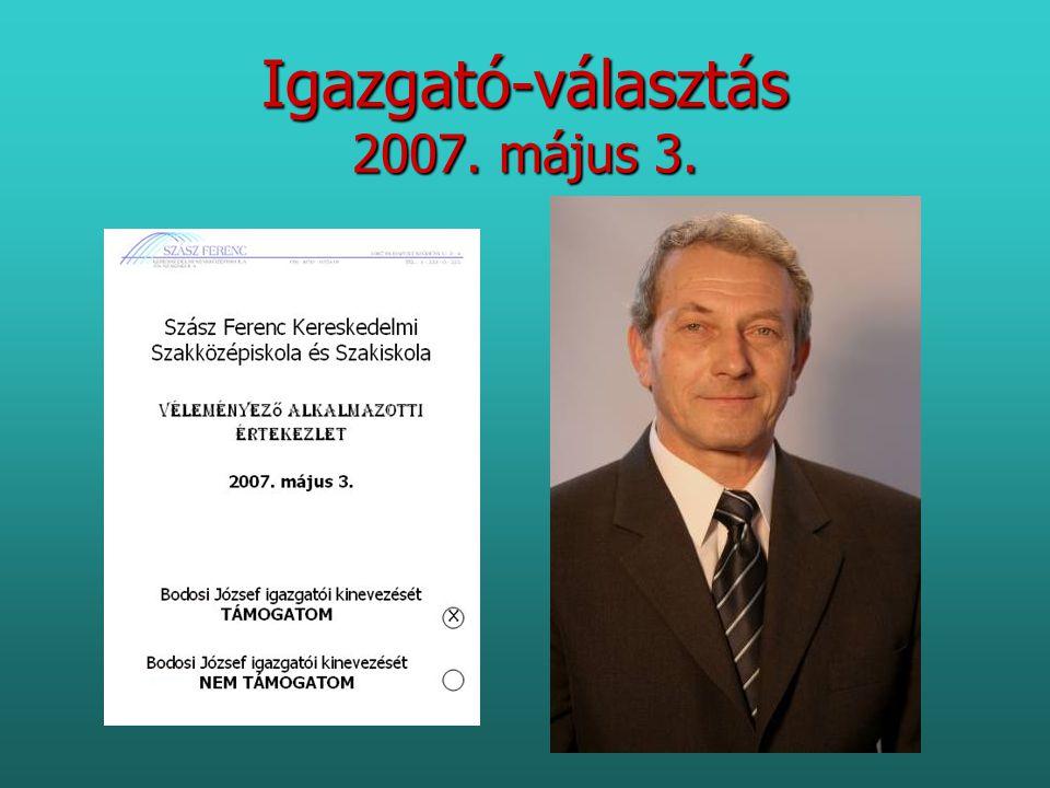 Igazgató-választás 2007. május 3.